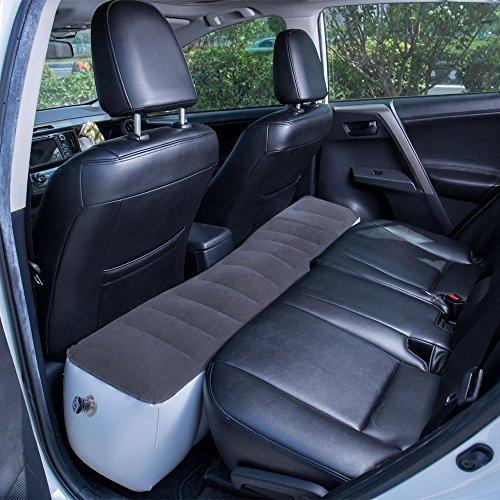 FMS Matelas Gonflable SUV Matelas pour Voiture adapté de SUV/MVP/des berlines et des camions.Voiture Matelas Can Withstand The Amount of 300kg (Petit Matelas-Gris)