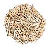 100 Holzklammern, VBS Großhandelspackung natur