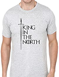 R'Squarre Cotton Men's Half Sleeve Casual Printed Tees | King In The North Tshirts | Game Of Thrones T-Shirt |...