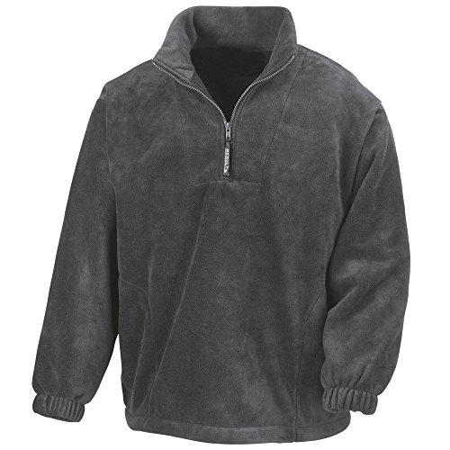 Result Mens Active Half Zip Fleece Jackets Oxford Grey