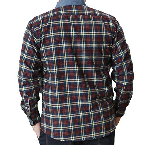 Herbst Größe Männer Mit Langen Ärmeln Kariertes Hemd Hemdbluse Red