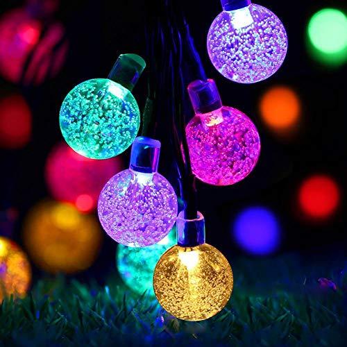BONNIO Solar Lichterketten Kristallkugel LED Lichter Outdoor Garten Lichter für Party Hochzeitsdekoration