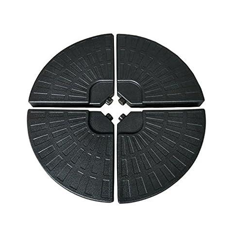 Parasol Pied - Lot de 4 dalles rondes SAINT