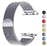 VIKATech Bracelet de Remplacement Compatible avec Apple Watch 40mm 38mm   Bracelet en Acier Inoxydable   Bracelets de Rechange Smartwatch avec Aimant compatibles avec iWatch Series 5/4/3/2/1, Argent