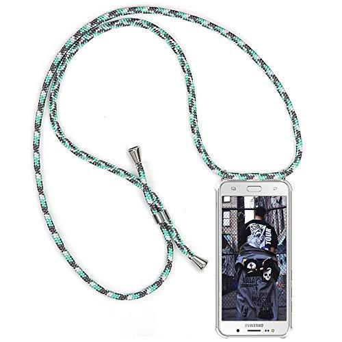 TUUT Handykette kompatibel mit Samsung Galaxy J5 2016 / J510 Handy-Kette Handy Hülle mit Kordel zum Umhängen Handyanhänger Halsband Lanyard Case/Handy Band Necklace [Stoßfest] - Grün