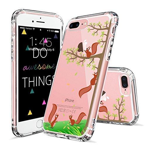 MOSNOVO iPhone 8 Plus Hülle, iPhone 7 Plus Hülle, Niedlich Eichhörnchen Muster TPU Bumper mit Hart Plastik Hülle Durchsichtig Schutzhülle Transparent für iPhone 7 Plus/iPhone 8 Plus (Eichhörnchen) (Plus Eichhörnchen)