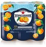 SANPELLEGRINO Bibite Gassate, ARANCIATA Lattina da 33 cl Confezione di 6 lattine