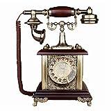 Filo Analogue & DECT Cellulari Bar decorazione antica europea Retro telefono fisso scrivania telefono con filo Telefono Rosso Marrone Per la casa del valore di stoccaggio decorazione