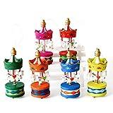 lzndeal 6 Pcs Ornements de Noël Cadeau en Forme Carrousel Mini Pendentif en sapin de Noël Cadeau d'anniversaire Noël pour enfants...