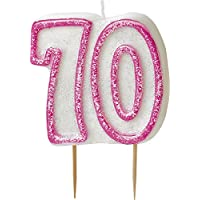 BLING Party Decorations and Tableware for 70th Birthday in PINK Glitz