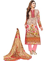 Rosaniya Un-Stitched Pakistani Embroided Self Printed & Digital Printed Cotton Lawn Straight Salwar Suit For Women...