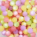 30 Stück echte original Polarisperlen Perlenmix Perlenmischung Perlen Perlenset 10 mm, flieder-rosa, Perlen aus deutscher Produktion