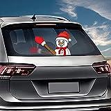 Gaddrt Weihnachten Scheibenwischer Waving Mini Weihnachtsmann Weihnachten Neuheit Aufkleber für Auto Heckscheibenwischer (F)