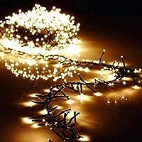 ستارة Torix 250 LED بطول 15 متر إضاءة فائقة متعددة الألوان تعمل بالكهرباء الدافئ من سلسلة مصابيح LED لحفلات الكريسماس وأعياد الميلاد