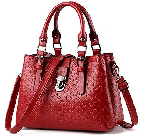Xinmaoyuan Borse donna borsetta incrociate in diagonale Middle-Aged femmina quadrato piccolo sacchetto,Golden Rosso
