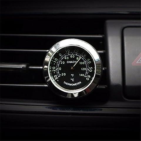Réveil automobile/véhicule horloge électronique/véhicule/horloges réveil/Quartz/véhicule/table/Thermomètre électronique de garniture automobile, thermomètre - Noir