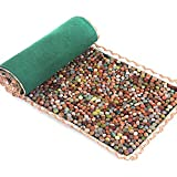 SLDAGe Reflexology Mat, Cobblestone Massage Cushion Pedicure Blanket for Foot Massage Relieve Fatigue Promote Blood Circulation,highdensity15.75x59.06inch
