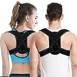 Doact Verstellbare Geradehalter zur Haltungskorrektur, Schulter Rücken Haltungsbandage Einstellbare Größe für Männer und Frauen