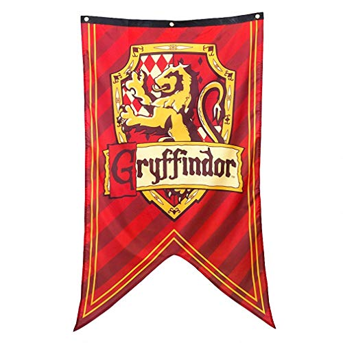 for Harry Banner Potter Wand Fahne, Gryffindor Flags für Bar House Party Dekoration ()