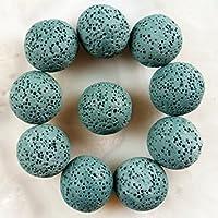 Tradico® 10pcs 18mm Blackish Green Volcano Lava Round Ball Beads Decoration LK1478