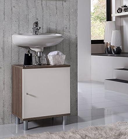 VCM Bad Unterschrank Waschtisch Waschbecken Badschrank Regal