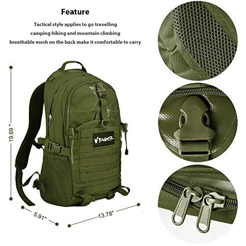 Imagen de vbiger  táctica militar ejército bolso al aire libre macutos de senderismo excursiones ejercito verde  alternativa