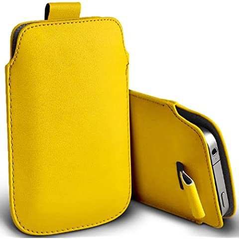 ( Yellow ) Orange Miami Protezione Faux Leather Pull pelle