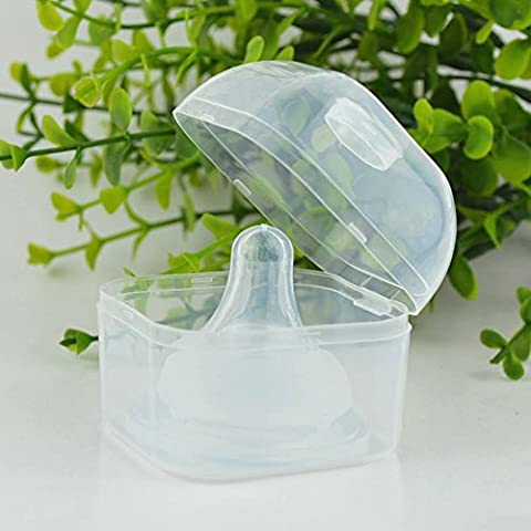2Pcs Clear Baby Infant Feeding Pacifier Soothers Case Nipple Shield Storage Sanitary Carrying Holder Box