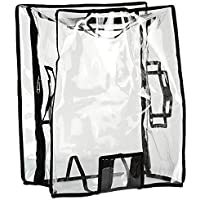 TRAVELUS Transparent Luggage Kids Trolley Protective Covers PVC Waterproof (Hard Body - Size 18)