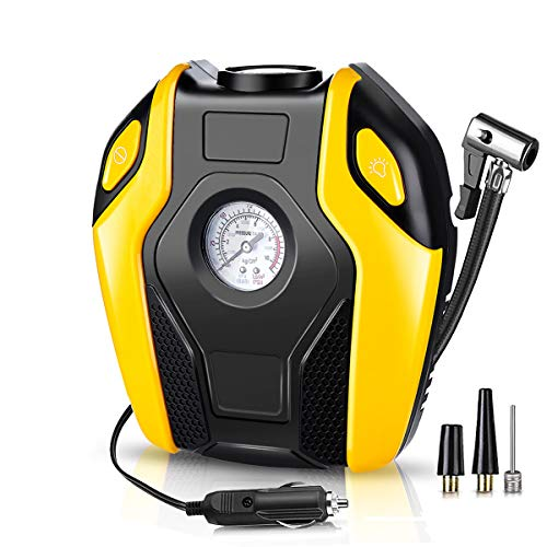 JenNiFer 12V 150Psi Car Tyre Inflator Ortrable Electric Digital Bike Inflator Air Kompressor Pump