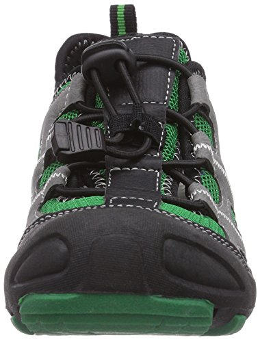 KangaROOS Kangaspeed 2066, Baskets Basses garçon Noir - Schwarz (black/green 508)