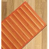 Multi-purpose rayado de bambú/cocina alfombra/dimensiones 55 x 240 cm corredor naranja
