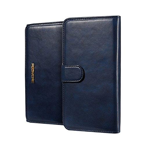 GHC Cases & Covers, FLOVEME für iPhone 6 & 6s, PU Crazy Horse Textur Magnetische abnehmbare horizontale Flip Ledertasche mit Kartensteckplätzen und Brieftasche ( Color : Coffee ) Dark blue