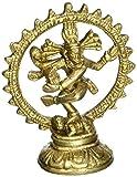 ShalinIndia Indian Art Dancing Shiva Nataraja Dio indù religiosa regali ottone metallo arte scultura 10,2cm 210gram