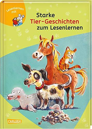 LESEMAUS zum Lesenlernen Sammelbände: Starke Tier-Geschichten zum Lesenlernen: Einfache Geschichten zum Selberlesen - Lesen üben und vertiefen
