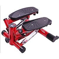 Preisvergleich für HS-Lighting Mini Stepper 2in1 Heimtrainer mit 2 Traningsbändern und Display Verstellbarer Fitnessgerät Farbauswahl (Rot)