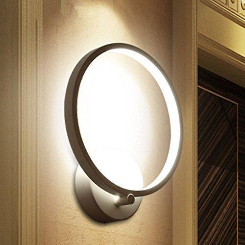 Sisviv applique da parete interni lampada da parete elegante a led 12w stile moderno per decorazione soggiorno camera da letto scale corridoio bianco caldo