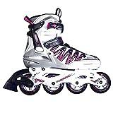 SPOKEY® HALO II Inline Skates | Kinder | Damen | Herren | Inline Blades | ABEC5 Karbon | Aluminiumschiene | Größen 37-46, Farben:Weiß;Größe/Size:41