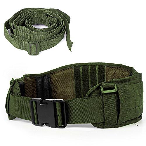 Luufan cinghia militare molle di sicurezza della cinghia tattica resistente con cinghia libera per attività all'aperto (army green)