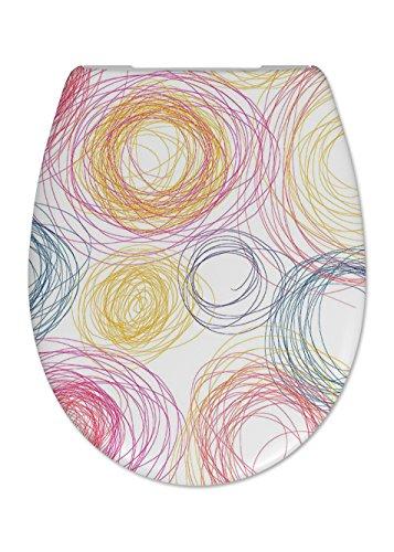Cedo Design WC Sitz Crayon mit Absenkautomatik Softclose Classic, Abnehmbar mit Takeoff Original Abnahmefunktion; aus Duroplast für ovale Keramiken mit Befestigung von Unten