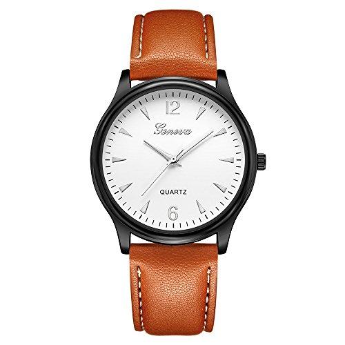 IG-Invictus Luxus Mode Kunstleder Herren Blue Ray Glas Quarz Analog Uhren Herren Gürtel Uhr 640 Schwarz Weiß Braun Gürtel