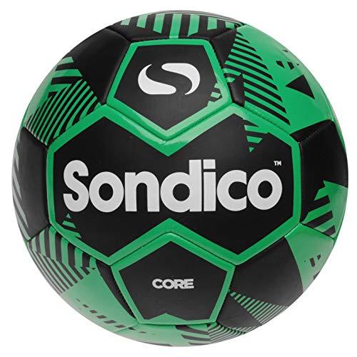 Sondico Unisex Core XT Football Black Green Size 3