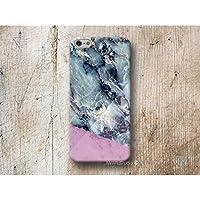 Blau Marmor Rosa Handy Hülle Handyhülle für Huawei P10 P9 P8 Lite P7 Mate S G8 Nexus 6P HTC 10 M9 M8 A9 Desire 626