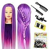 Neverland Beauty 26 Zoll 100% Kunstfaser Haar Hairdressing Übungskopf Gliederpuppe Kopf mit Clamp + Hair Styling Tool