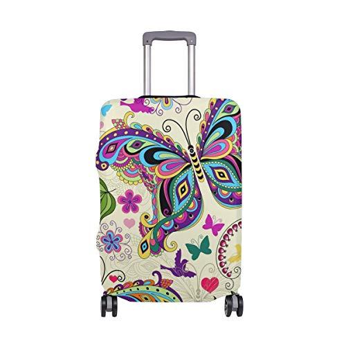 Bagagli da viaggio tribali della farfalla con la valigia del bagaglio a 24 pollici di spinner wheels