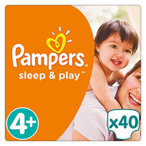 Pampers - Sleep & Play - Couches Taille 4+ (9-20 kg) - Pack Géant (x40 couches)
