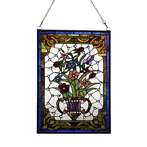 Makenier Vintage Tiffany-Stil, Art Deko-Blumenvase Fenster zum Aufhängen