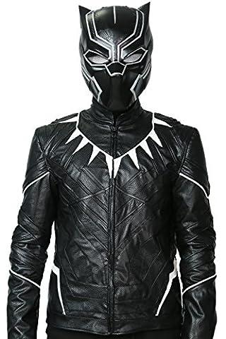 Costume Civil War Black Panther - Hommes Veste Noir Costume Déguisement Cosplay Adultes