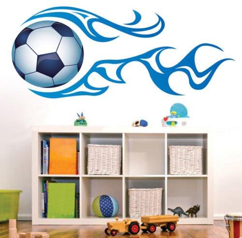 Preisvergleich Produktbild HALLOBO® Wandtattoo Fussball Fußball Weltmeister Wandaufkleber Wandsticker Kinderzimmer Kinder baby