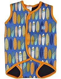 Splash About Baby Wrap - Traje de neopreno para niños, color azul / naranja, talla large 18-30 meses